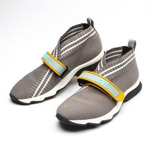 Sneakers Fendi Rockoko Cinza e Branco