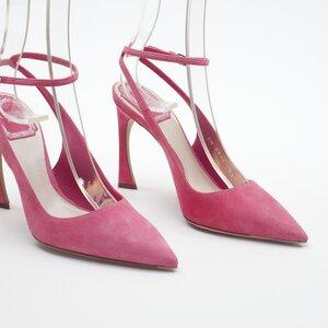 Scarpin Dior em camurça rosa