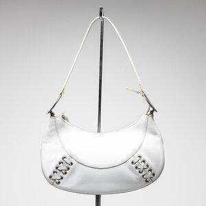 Mini bolsa Versace em couro branca