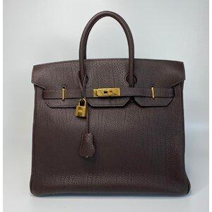 Bolsa Hermes Birkin Hac 32 Fjord Chocolat