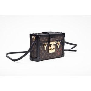 Bolsa Clutch Louis Vuitton Petite Malle em Couro Monograma