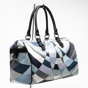 Bolsa Pucci Speedy estampada em tons de azul