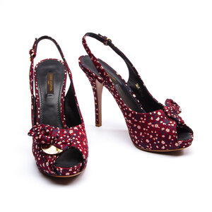 Peep Toe Louis Vuitton Tecido Estampado