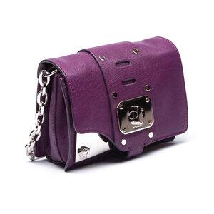Mini Bolsa Versace Stardust Chain-Link Roxa