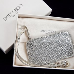 Luggage Tag JImmy Choo em glitter