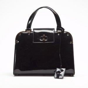 Bolsa YSL patent leather em verniz preta