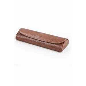 Porta Oculos Longchamp em couro caramelo