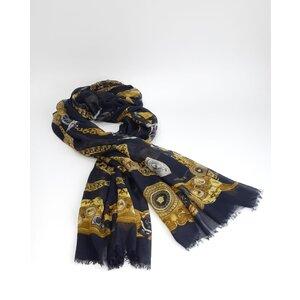 Echarpe Versace Cashmere e Seda Preto/Amarelo