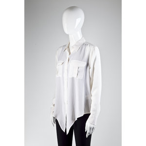 Camisa Equipment Seda Off White