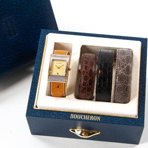Relógio Boucheron Reflet Ouro Branco e Amarelo 4 Pulseiras