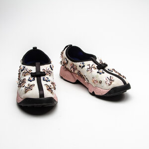 Tênis Dior Bordado Branco/Rosa