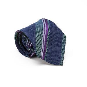 Gravata Etro Listrada Azul /Verde e Roxa