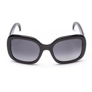 Óculos Chanel Acetato Aste Em Couro De Arraia