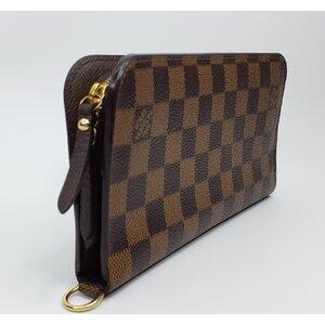 Carteira Louis Vuitton Insolite Rouge Damier Ebene Monograma Marrom