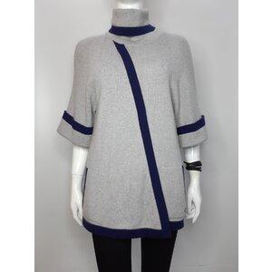 Malha Chanel Cashmere Cinza, Azul