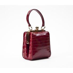 Bolsa Dolce & Gabbana Agata em croco vermelha