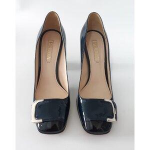 Sapato Prada Verniz Azul Marinho com Preto