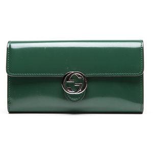 Carteira Gucci em Verniz Verde