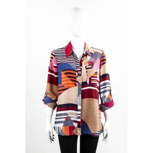 Camisa Dvf Seda Colorida