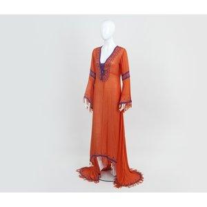 Caftan Nour longo laranja