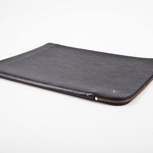 Pasta de Documentos Louis Vuitton couro Epi preta