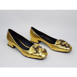Sapato Bottega Veneta Couro Dourado