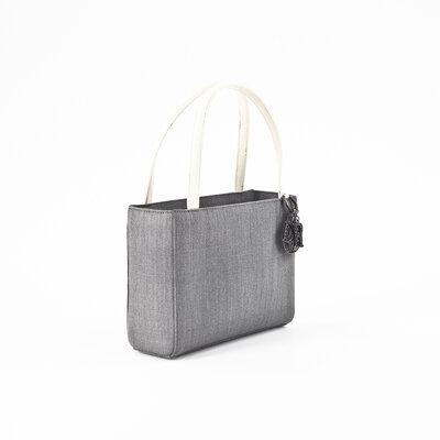 Bolsa Dior em tecido cinza