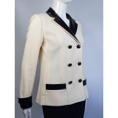 Blazer Chanel Tweed, Verniz Off White, Preto