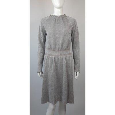 Vestido Tory Burch Malha Cotton Cinza