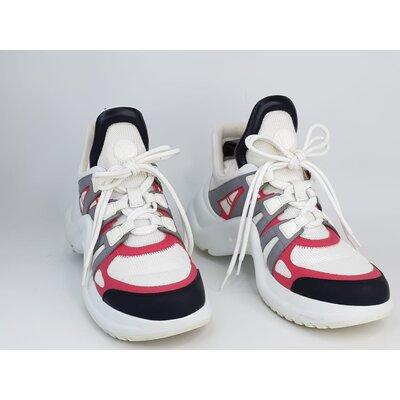 Sneaker Louis Vuitton Archlight Branco, Rosa, Preto