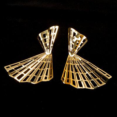 Brinco Ana Rocha & Appolinario Ouro Amarelo Dourado