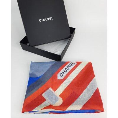 Lenço Chanel em Cotton Estampado