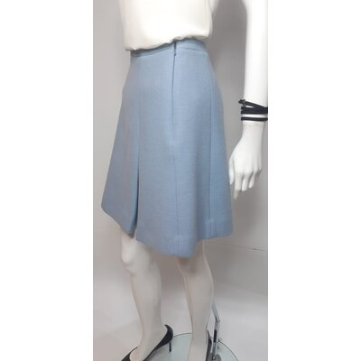 Saia Christian Dior Lã Azul
