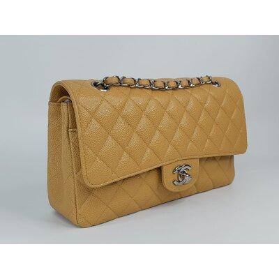 Bolsa Chanel 255 Couro Caviar Caramelo