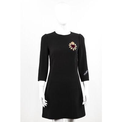 Vestido com Manga Dolce & Gabbana crepe Preto