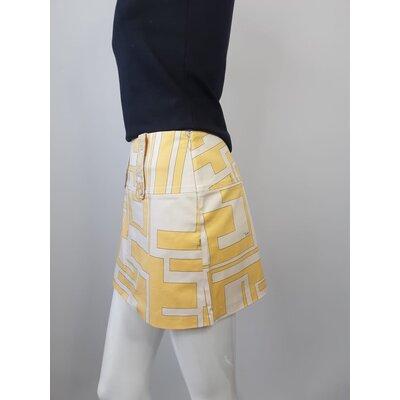 Mini Saia Pucci Cotton Estampado Amarelo