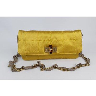 Clutch Lanvin Tecido Dourada