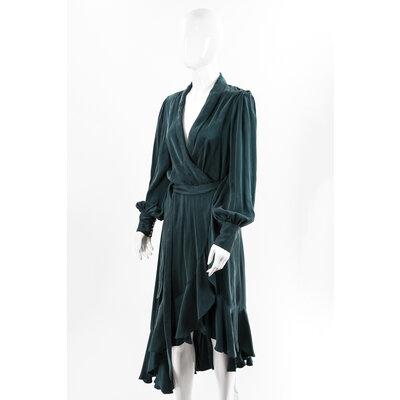 Vestido Zimmermann Seda Verde