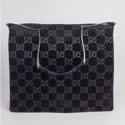 Bolsa Gucci Camurça com Monograma Preta