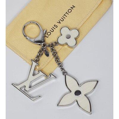 Chaveiro Louis Vuitton Fleur Dépi Branco