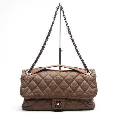 Bolsa Chanel In The Mix em Couro Bege