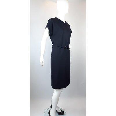 Vestido Diane Von Furstenberg Cotton Azul Marinho