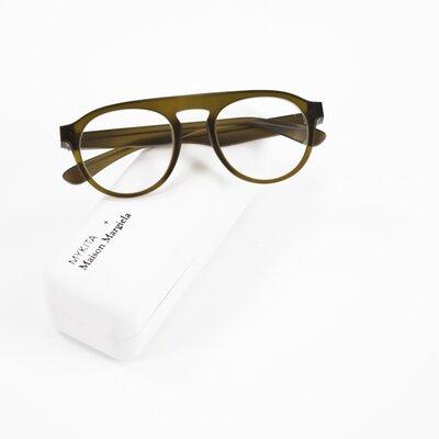 Óculos Mykita by Maison Margiela natural e verde oliva