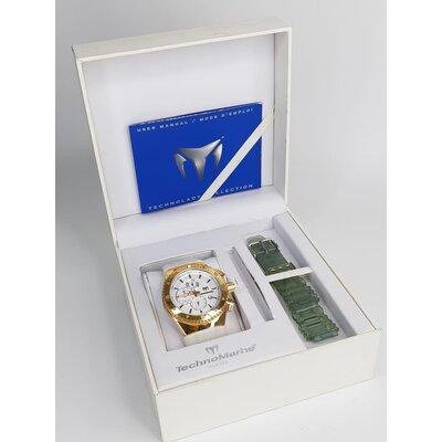 Relógio Technomarine Branco e Dourado