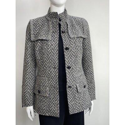 Blazer Chanel Tweed Preto Cinza