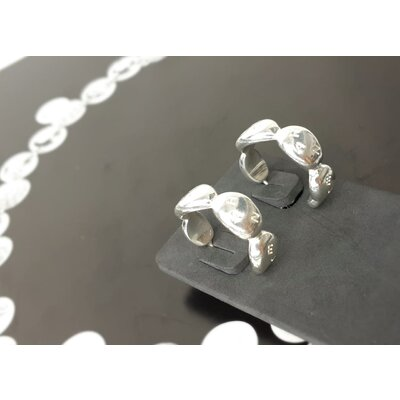Brinco Chanel Argola de Prata