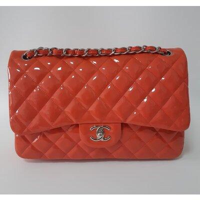Bolsa Chanel 255 Jumbo Verniz Coral