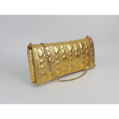 Bolsa/Clutch Carolina Herrera Couro Dourada