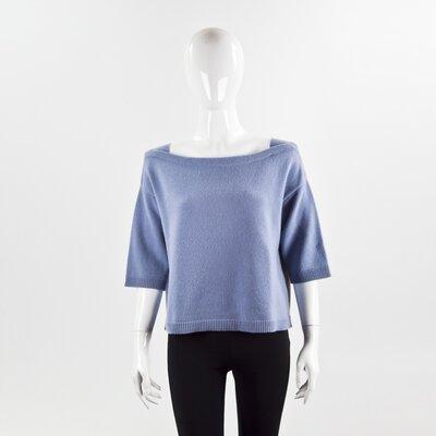 Malha Valentino em cashmere azul céu
