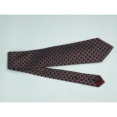 Gravata Gucci Seda Estampada em Bordô